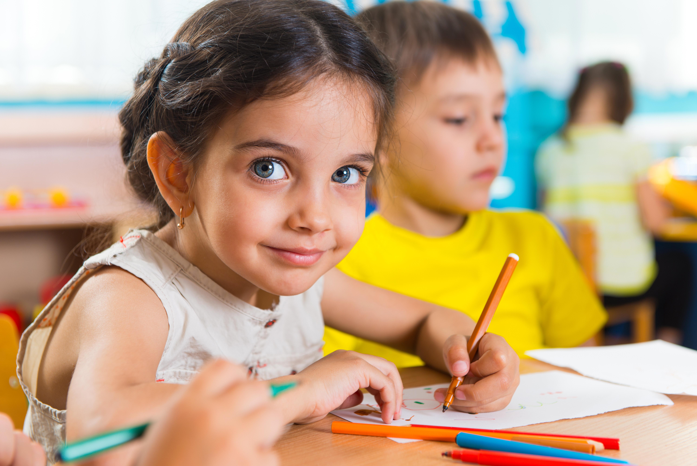 Small schoolchildren